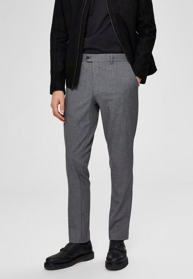 SLIM FIT - Spodnie garniturowe - grey melange