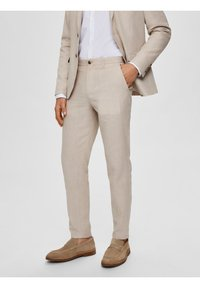 Selected Homme - Suit trousers - sand - 0
