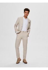 Selected Homme - Suit trousers - sand - 1