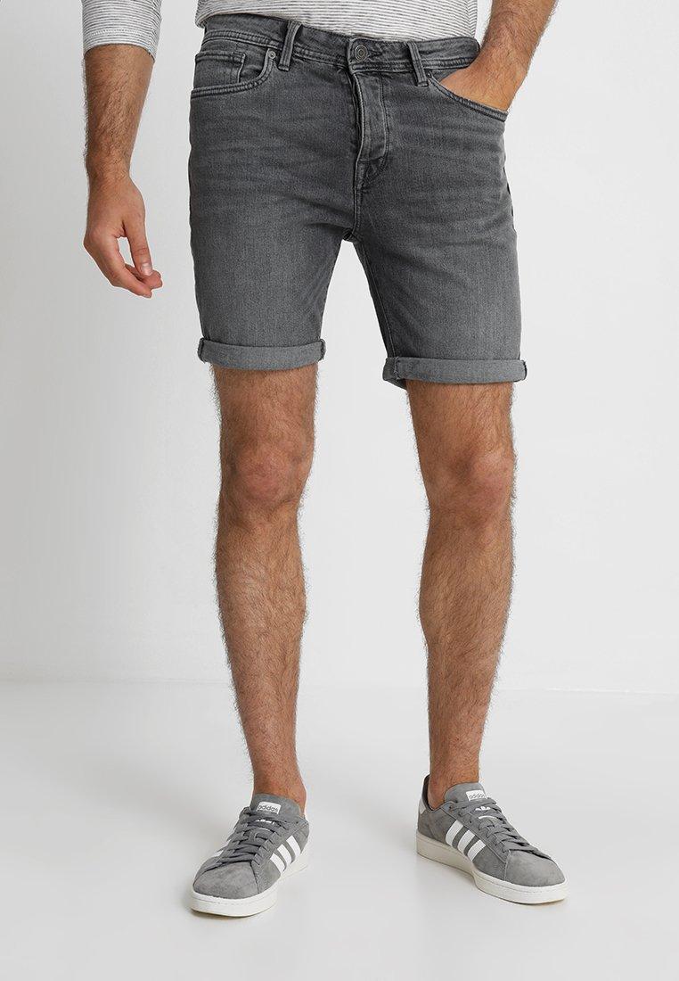 Selected Homme - SHNALEX - Denim shorts - light grey denim