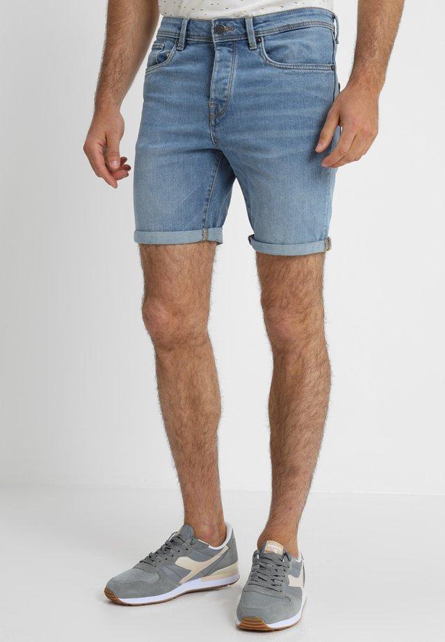 SHNALEX  - Denim shorts - light blue denim