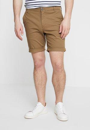 SLHSTRAIGHT PARIS - Shorts - camel