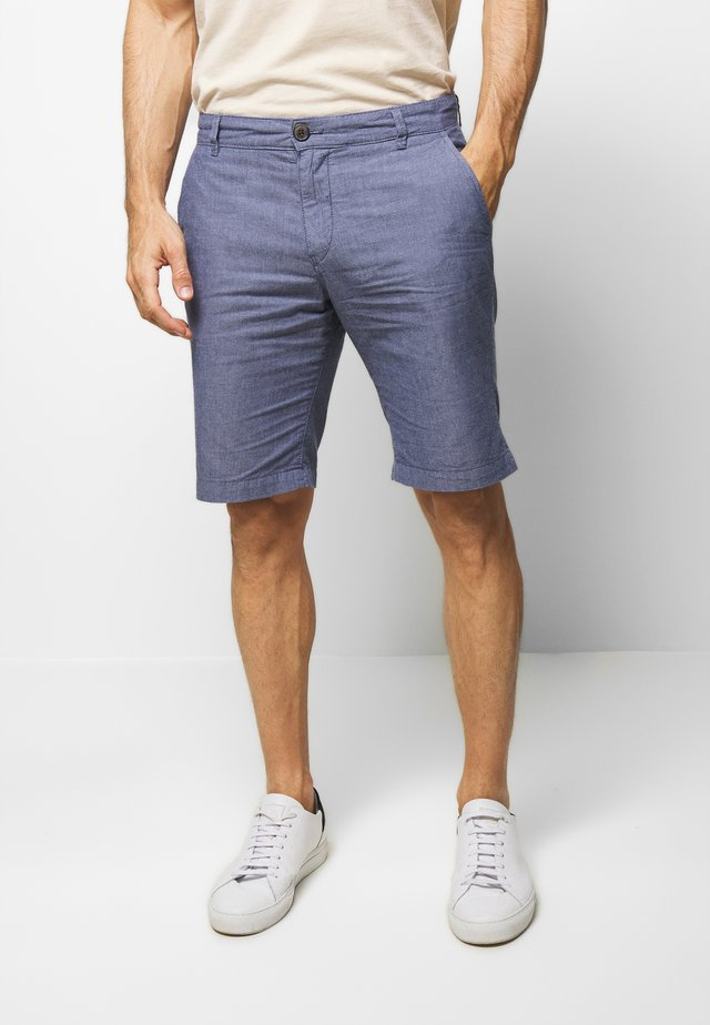 SLHSTRAIGHT-PARIS SUMMER - Shorts - cool blue