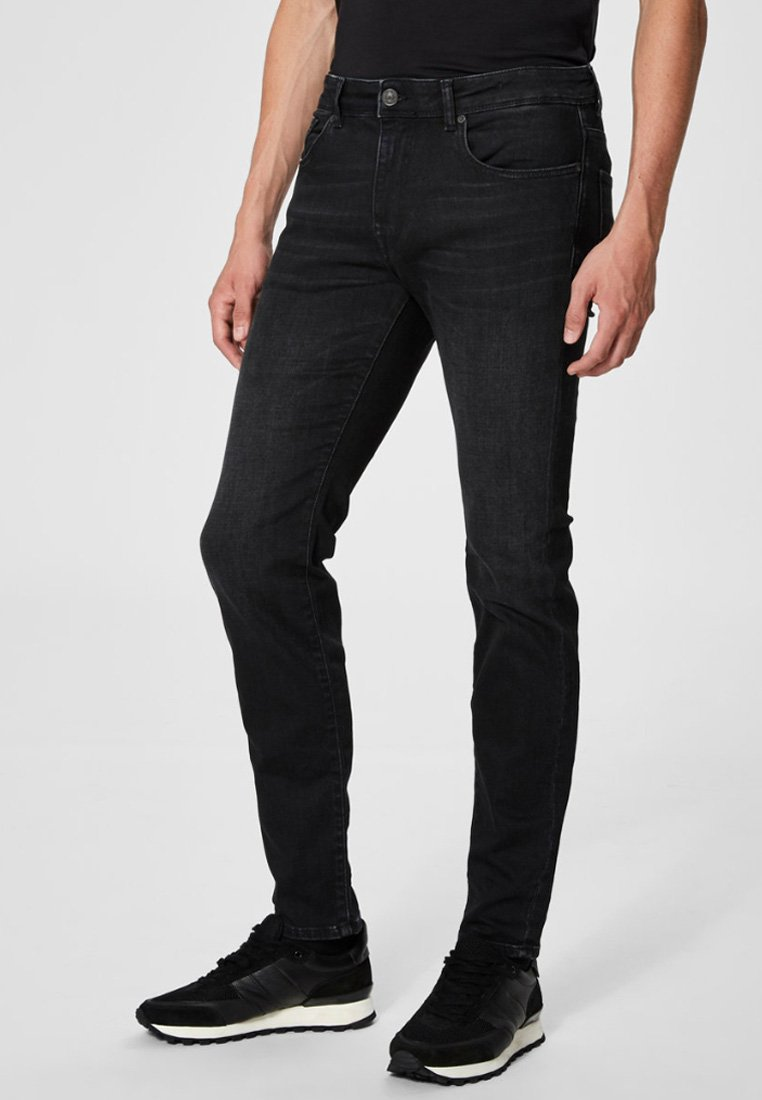Selected Homme - Džíny Slim Fit - black
