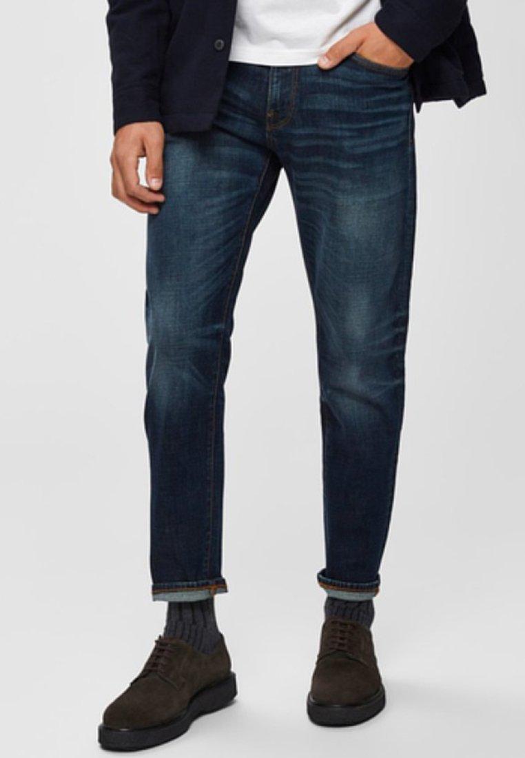 Selected Homme - Jeans Slim Fit - dark blue denim