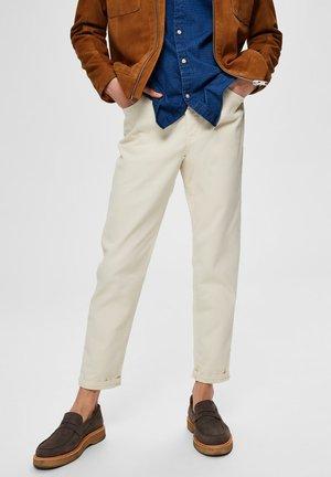 Straight leg jeans - bone white