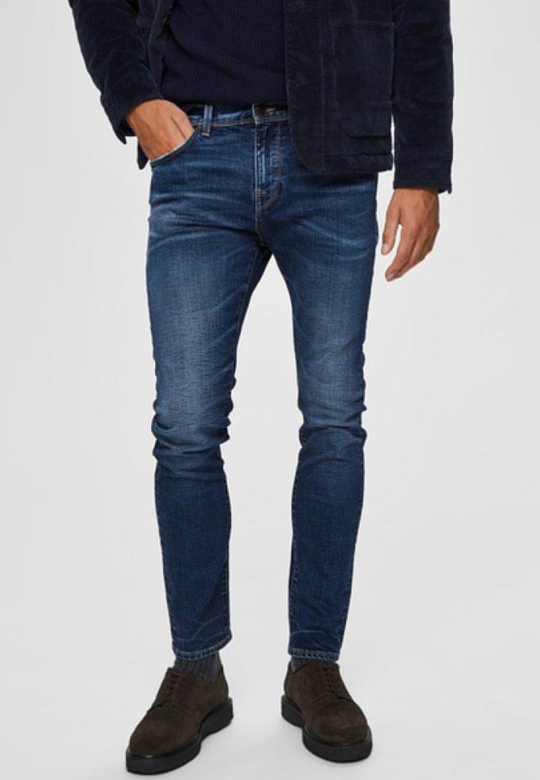Selected Homme - Jean slim - dark blue denim
