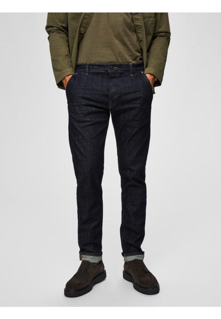 Selected Homme - Slim fit jeans - dark blue denim