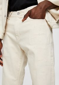 Selected Homme - Jeansy Straight Leg - white denim - 4