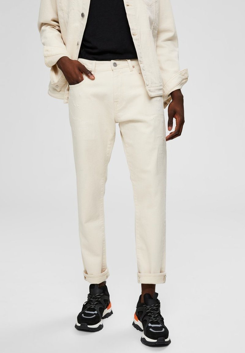 Selected Homme - Jeansy Straight Leg - white denim