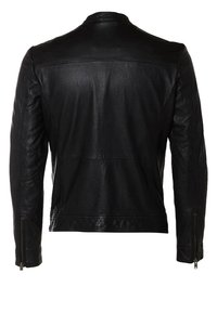 Selected Homme - Leren jas - black - 6