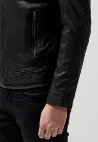 Selected Homme - Leren jas - black - 4