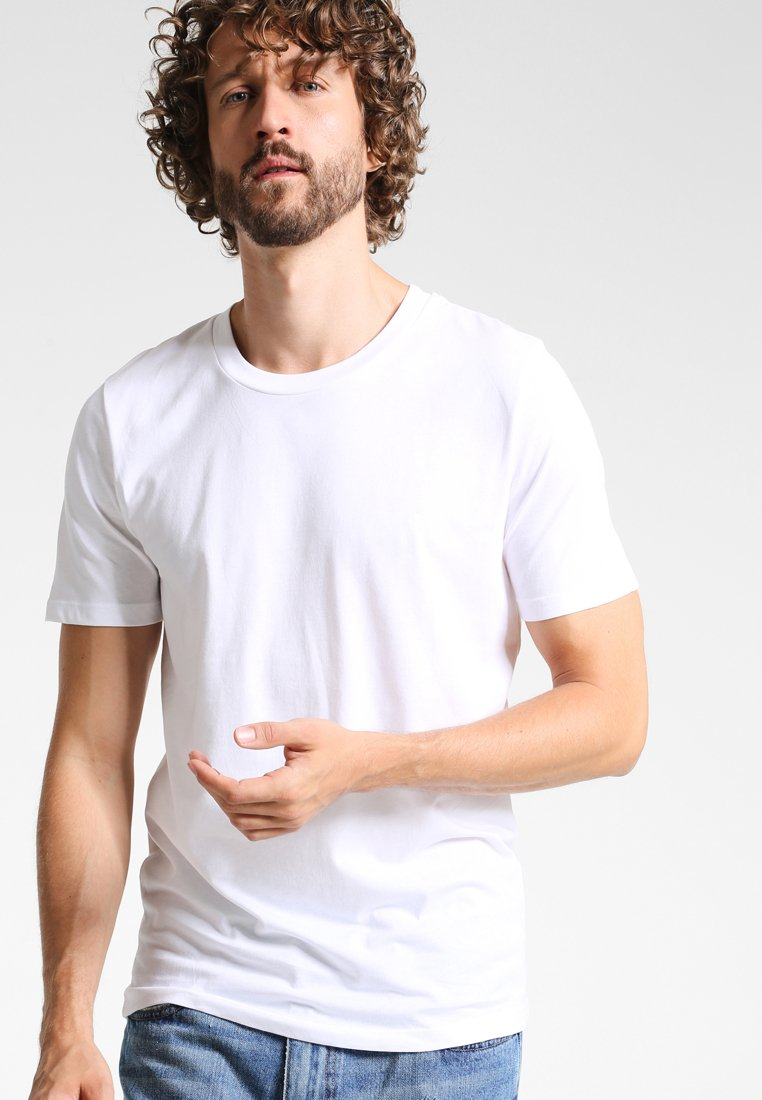 Selected Homme - SHDTHEPERFECT - Basic T-shirt - bright white