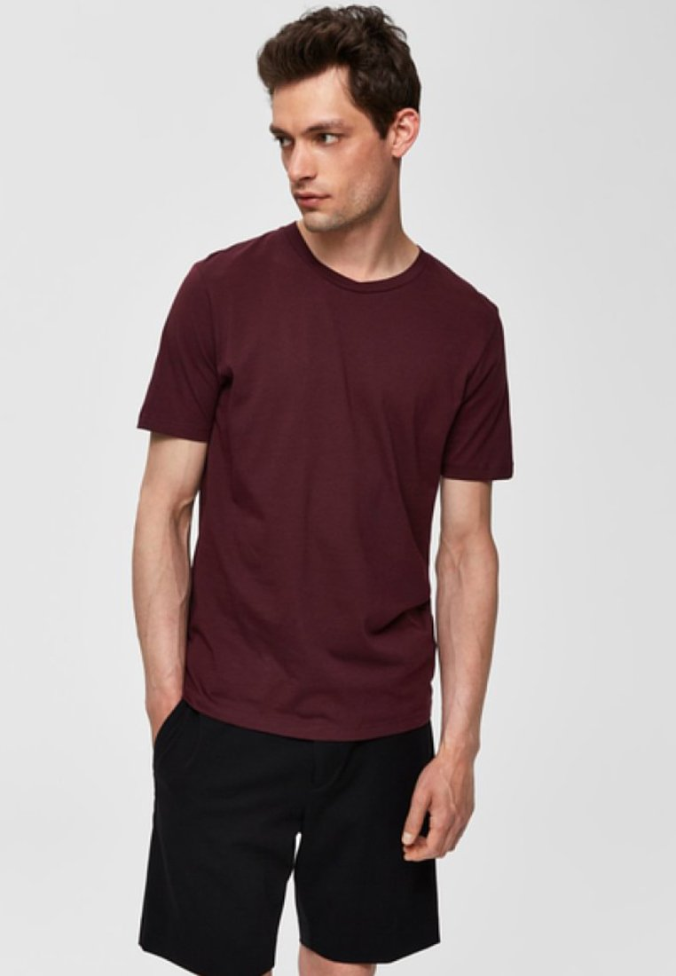 Selected Homme - SHDTHEPERFECT - Basic T-shirt - wine tasting