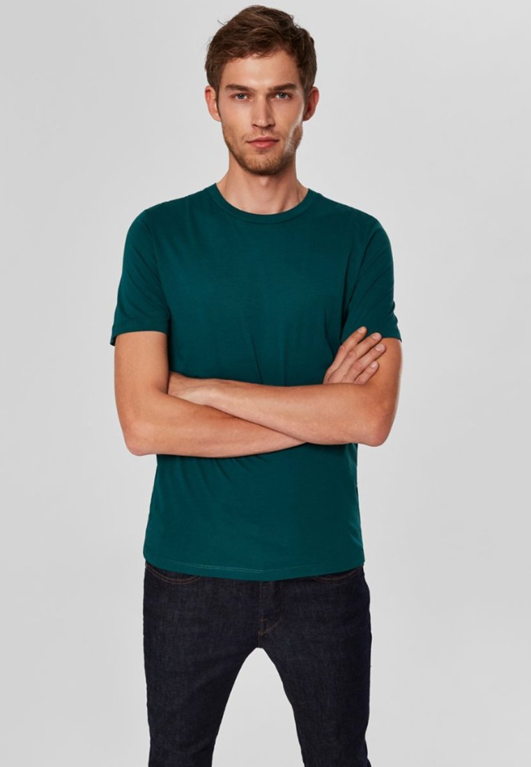 Selected Homme - SHDTHEPERFECT - Basic T-shirt - green