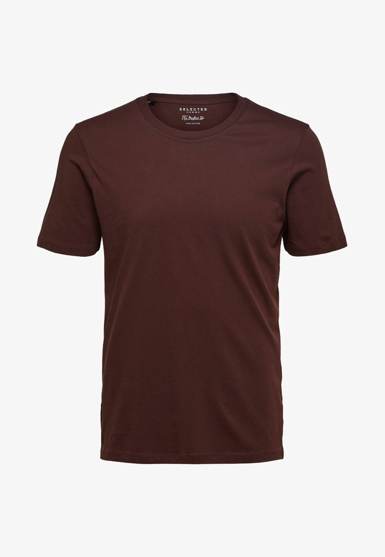 Selected Homme - SHDTHEPERFECT - Basic T-shirt - brown