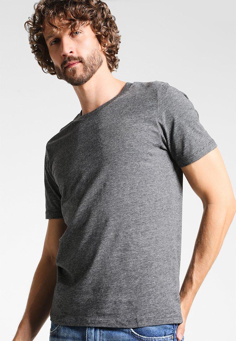 Selected Homme - THEPERFECT MELANGE - T-shirt - bas - black/light grey