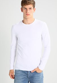 Selected Homme - SHDBASIC - Long sleeved top - bright white - 0