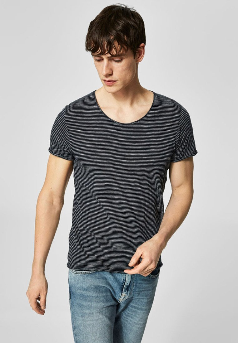 Selected Homme - T-Shirt print - dark grey