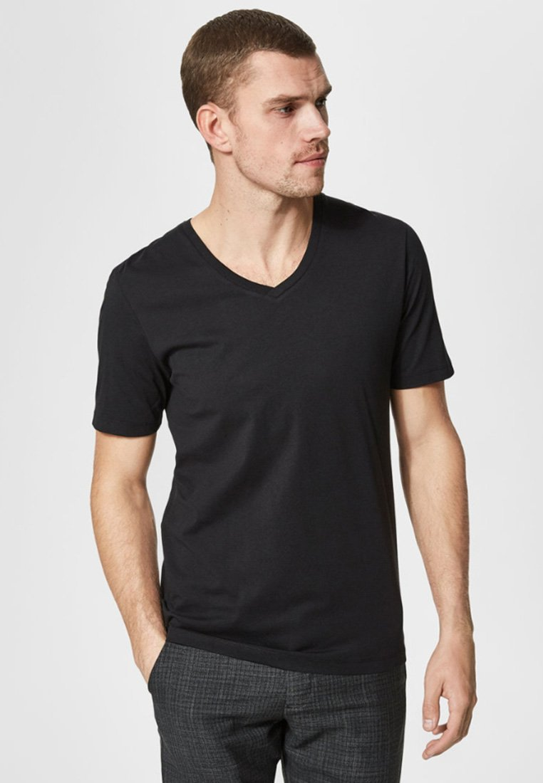 Selected Homme - T-Shirt basic - black