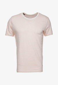 Selected Homme - T-shirt print - almond blossom/bright white - 4