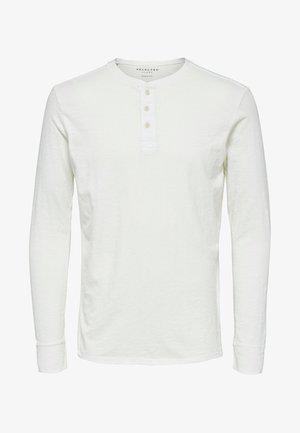 Long sleeved top - bone white