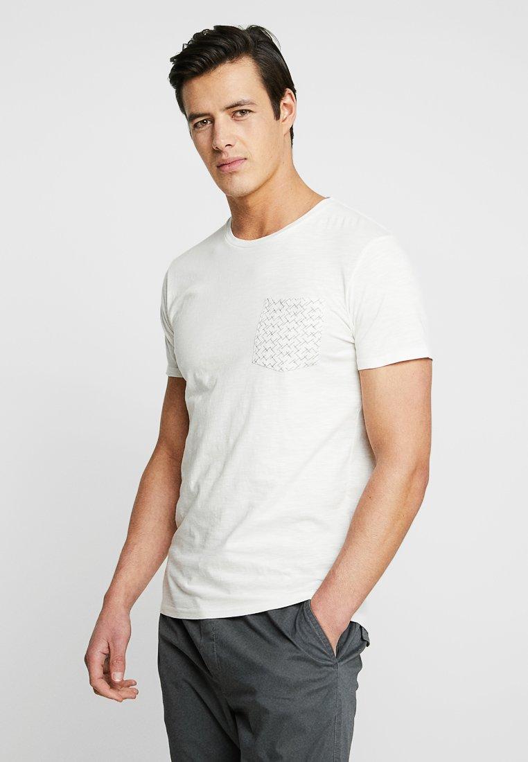 Selected Homme - SLHKRISTIAN  - T-Shirt print - egret