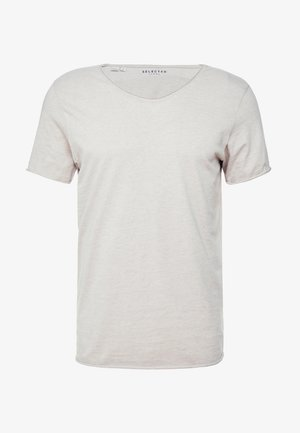 SLHNEWMERCE O-NECK TEE - Basic T-shirt - dove melange