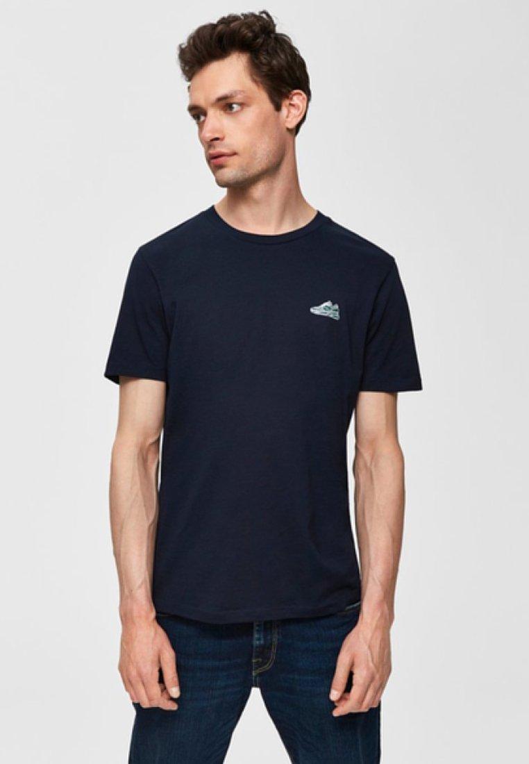 Selected Homme - T-shirt imprimé - dark sapphire