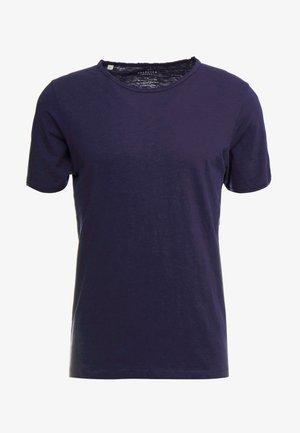 SLHMORGAN NECK TEE - T-paita - maritime blue