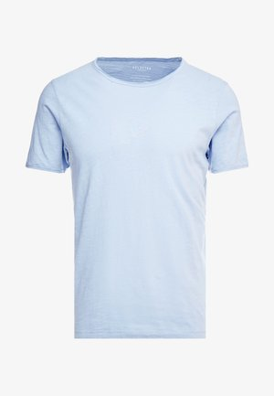 SLHMORGAN NECK TEE - Basic T-shirt - dream blue