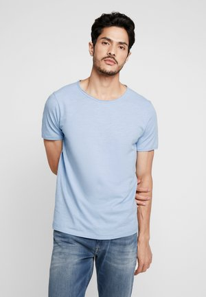 SLHMORGAN NECK TEE - T-Shirt basic - dream blue