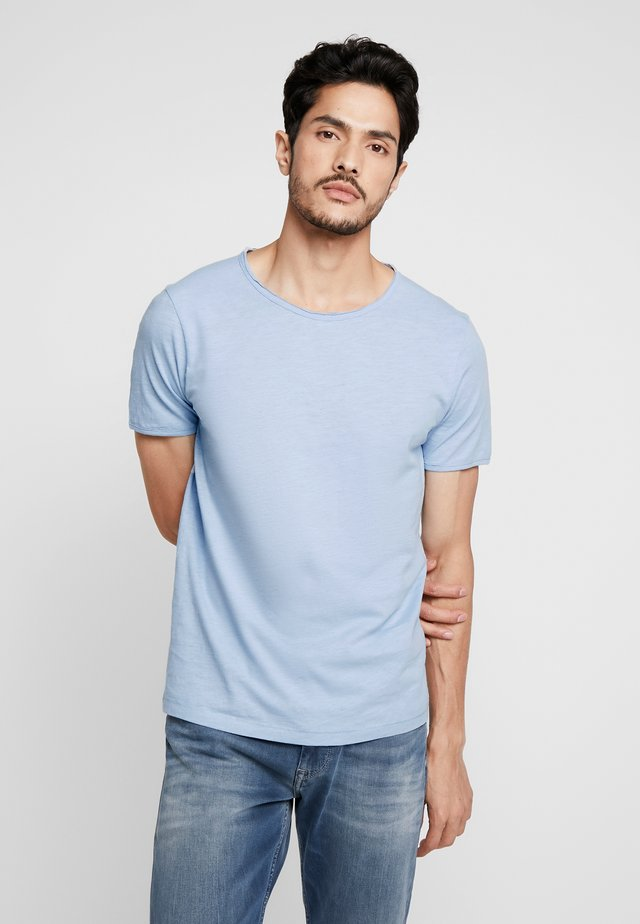 SLHMORGAN NECK TEE - T-Shirt basic - dream blue