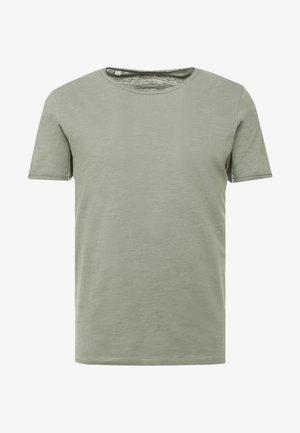 SLHMORGAN NECK TEE - T-shirt basic - sea spray
