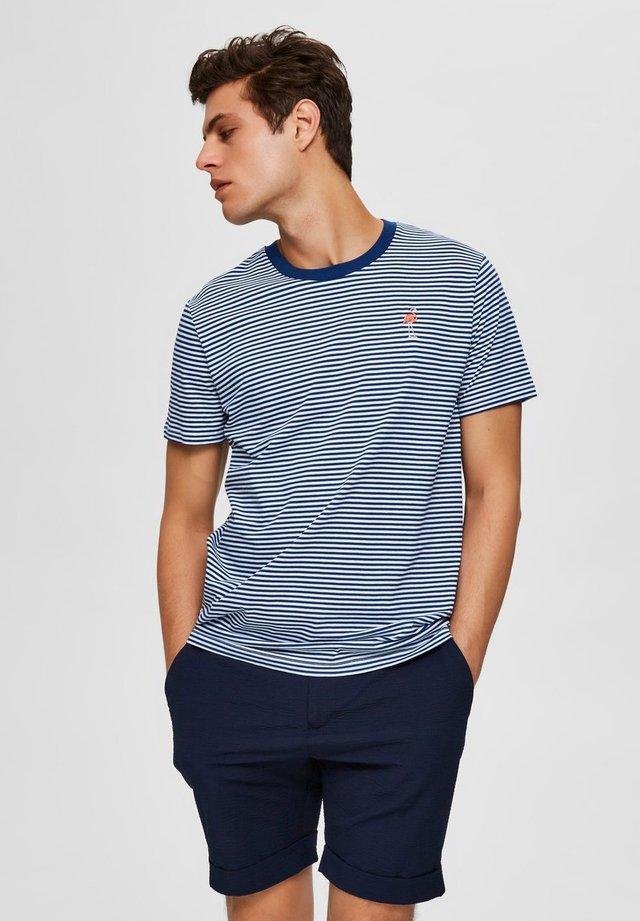 T-shirt print - navy peony