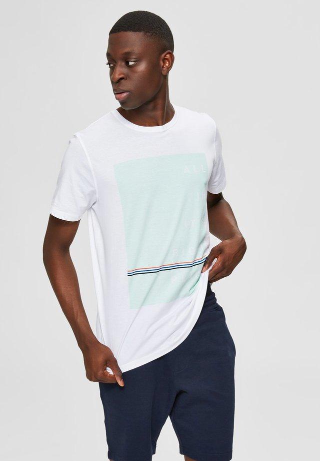 Print T-shirt - bright white 1