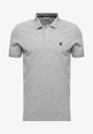 SHDARO EMBROIDERY - Poloshirt - medium grey melange
