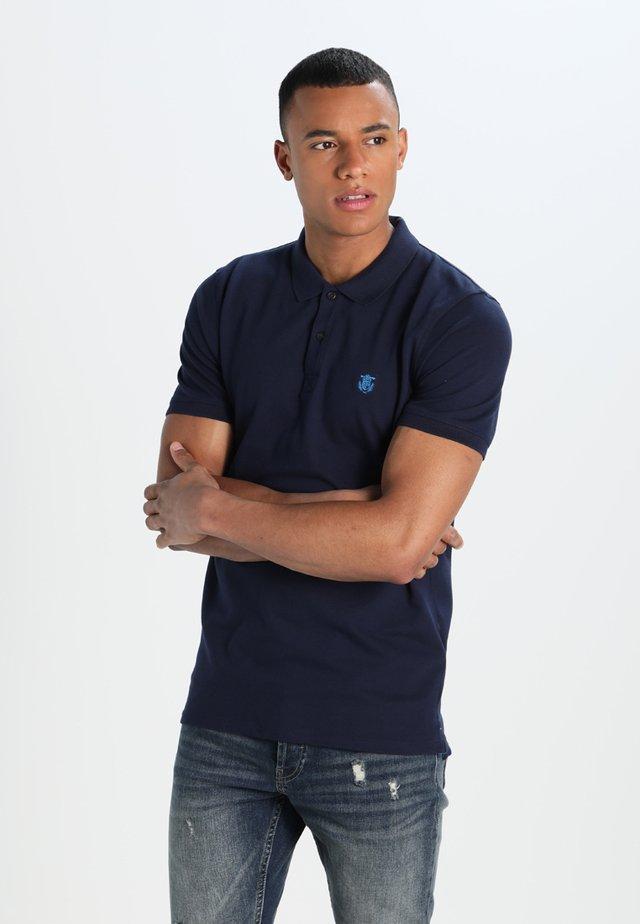 SHDARO EMBROIDERY - Poloshirt - peacoat