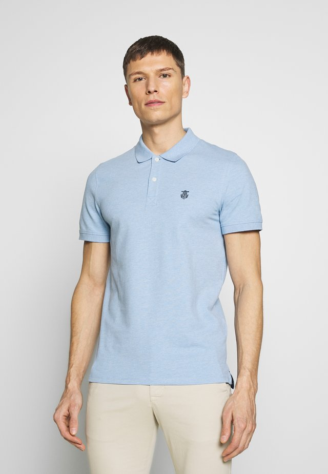 SHDARO EMBROIDERY - Polo shirt - skyway melange