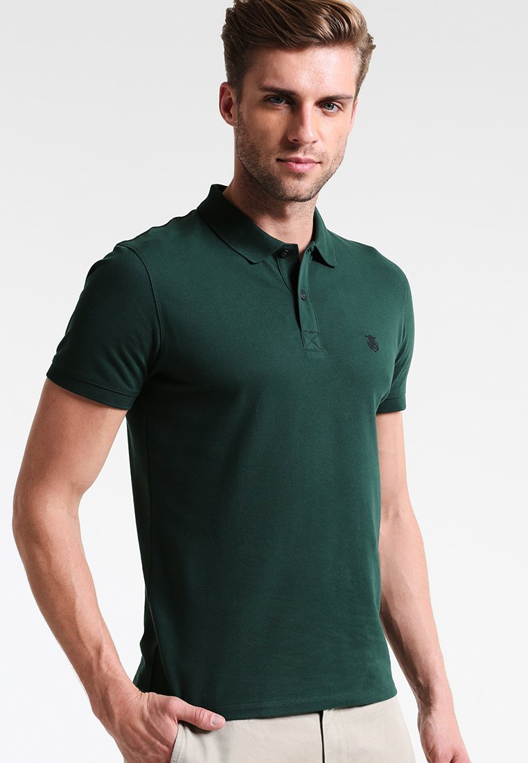 Selected Homme - SHDARO EMBROIDERY - Polo shirt - trekking green