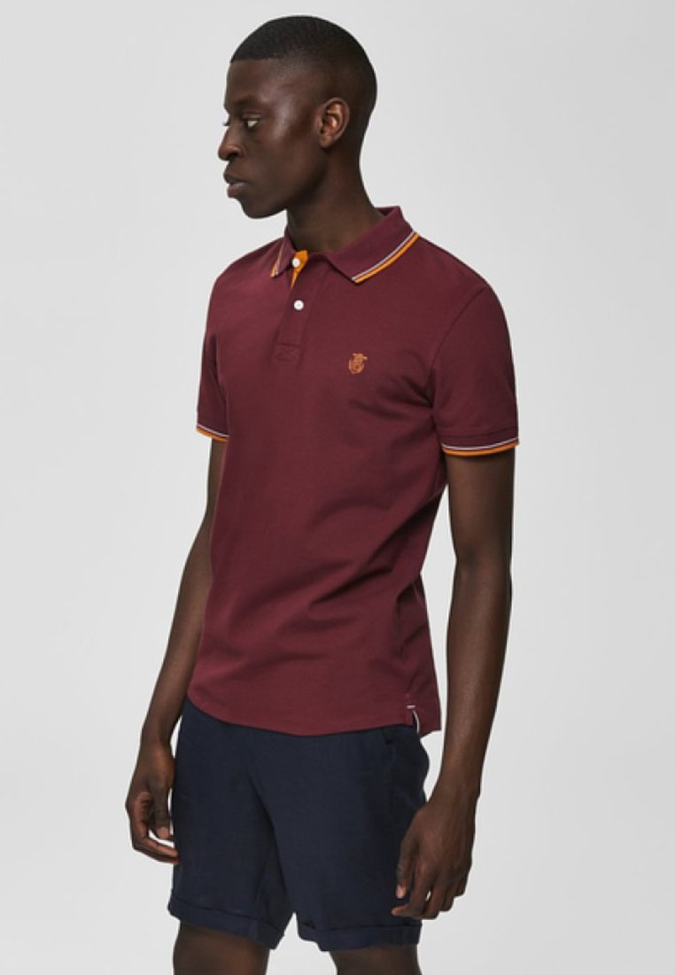 Selected Homme - SLHNEWSEASON  - Poloshirt - dark red