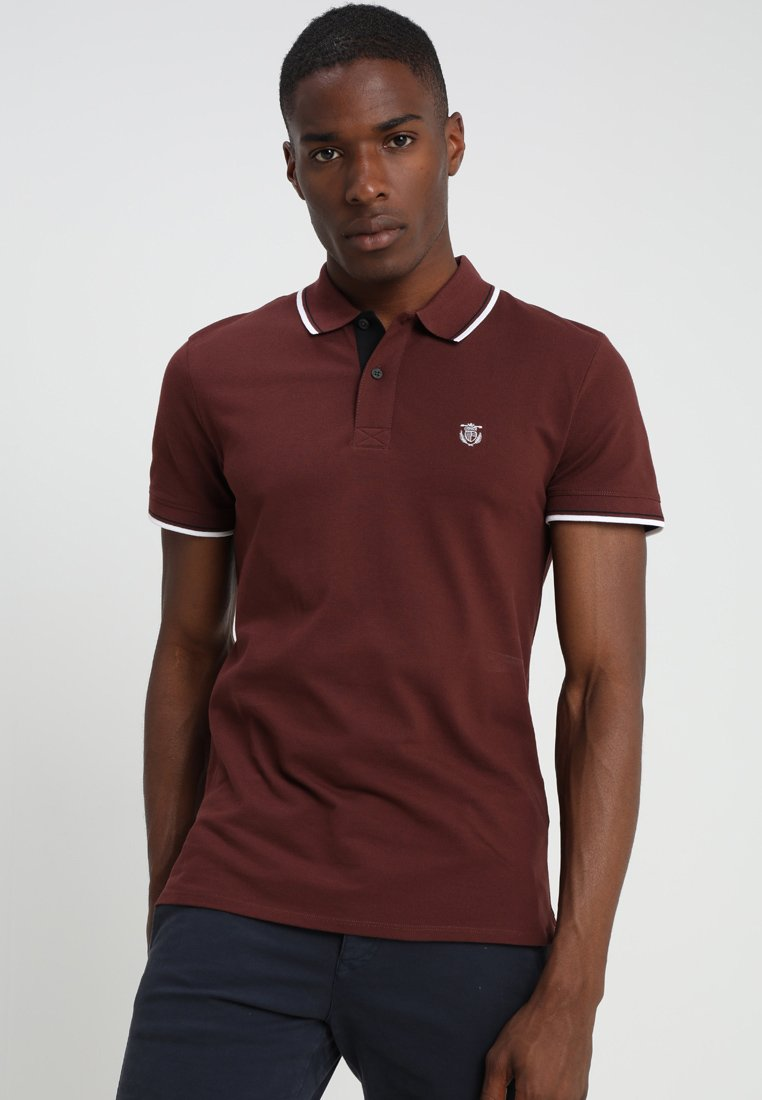 Selected Homme - SLHNEWSEASON  - Polo - bitter chocolate