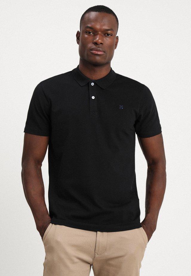 SLHLUKE SLIM FIT - Poloshirts - black