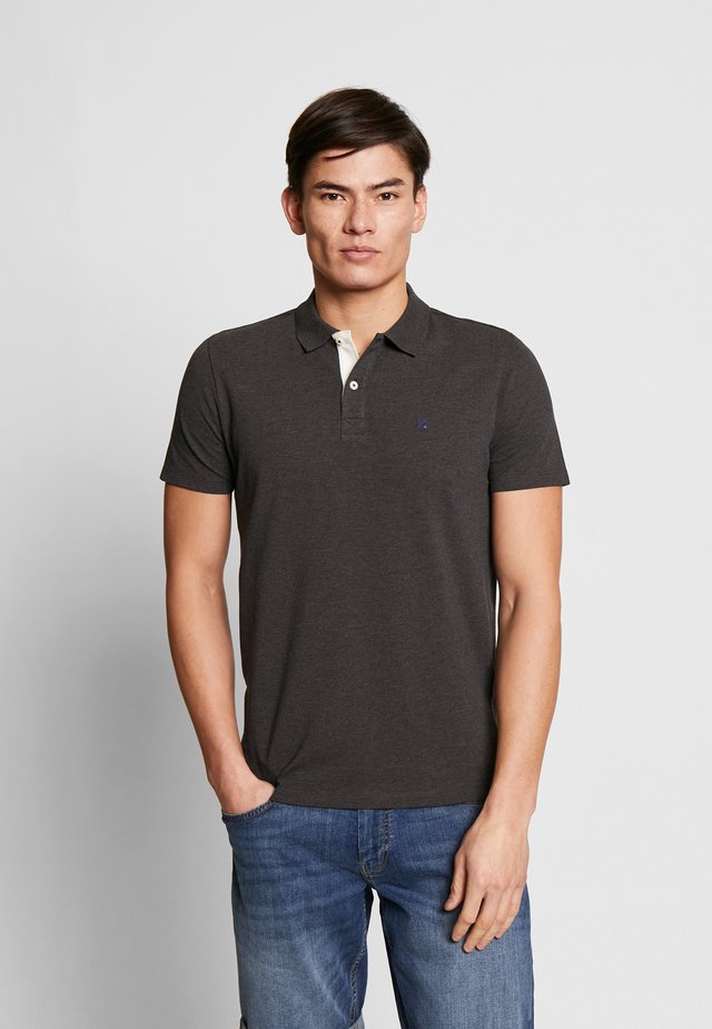 SLHLUKE SLIM FIT - Poloshirt - anthracite