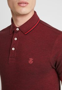 Selected Homme - SLHTWIST  - Poloshirt - red dahlia/twisted with black - 4
