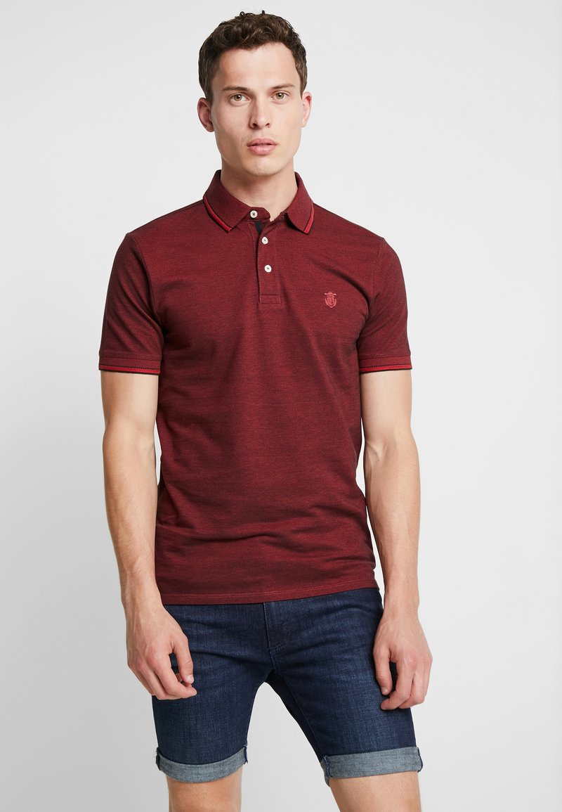 Selected Homme - SLHTWIST  - Poloshirt - red dahlia/twisted with black