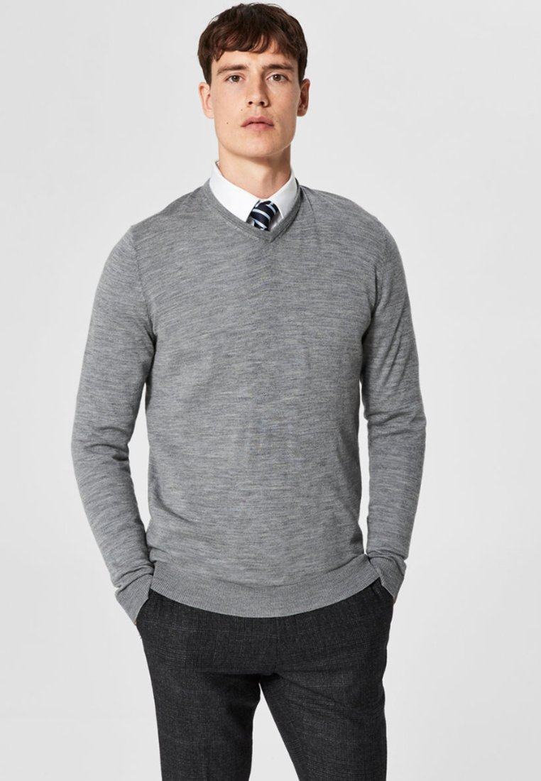 Selected Homme - Jersey de punto - grey