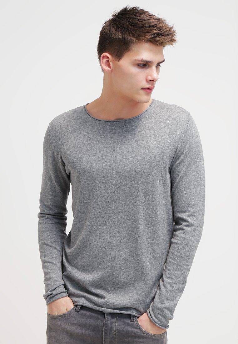 Selected Homme - SHDDOME CREW NECK - Strickpullover - medium grey melange