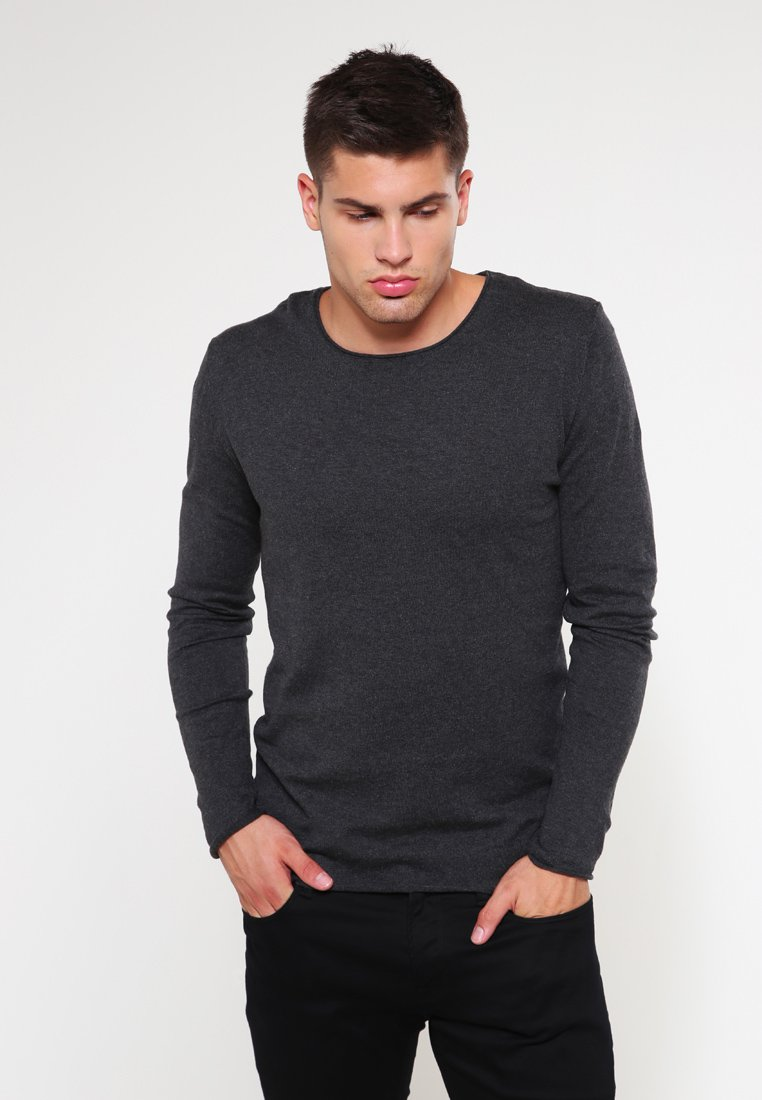 Selected Homme - SHDDOME CREW NECK - Strickpullover - antracit