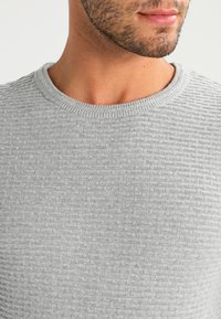 Selected Homme - SHHNEWDEAN CREW NECK - Stickad tröja - light grey melange - 3